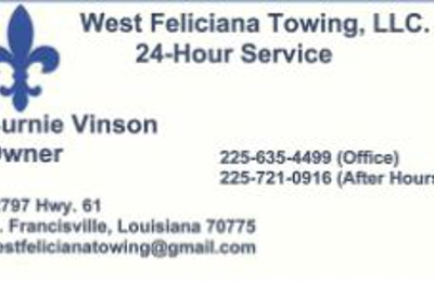 West Feliciana Towing - Saint Francisville, LA