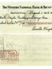 Orville Wright's check drawn against account kept and maintained at 1158 West Third Street branch.