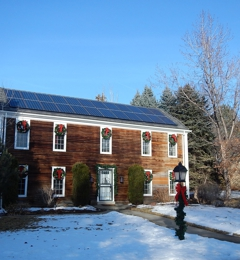 Go Green Electric Inc - Denver, CO. Solar Installation with clean lines that didnt take away the beauty of the house.