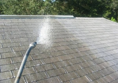 Chuck Bergman Roof Cleaning And Pressure Washing - Port Charlotte, FL. Gentle roof cleaning-no granules blown off roof, nor any flipped up tabs, as occurs using a pressure washing machine