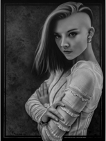 Commisioned portrait of Natalie Dormer. 18x24""