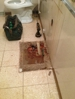 Where the old rotted vanity sat.
