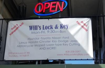 Will's Lock & Key - Honolulu, HI. Will's Lock & Key