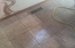 Tile and grout, before and after
