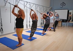 Center of Balance - Mountain View, CA. Bodhi suspension training challenges your core strength