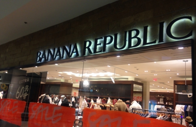 Banana Republic - Los Angeles, CA. Sign outside on 2nd fl