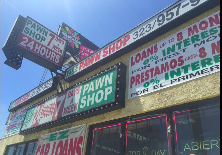 Car Title Loans Los Angeles: ZAK'S PAWN SHOP Open 24 Hours & Car Title Loans 6767 Santa