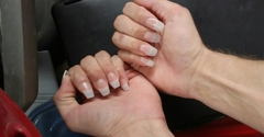 Party Nails - Avon, IN. Natural acrylic coffin nails