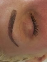 Combo brow, fill and micro strokes