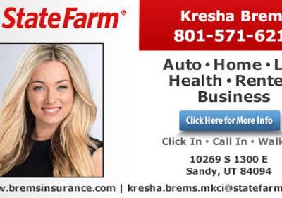 Kresha Brems State Farm Insurance Agency 10269 S 1300 E Sandy Ut 84094 Yp Com