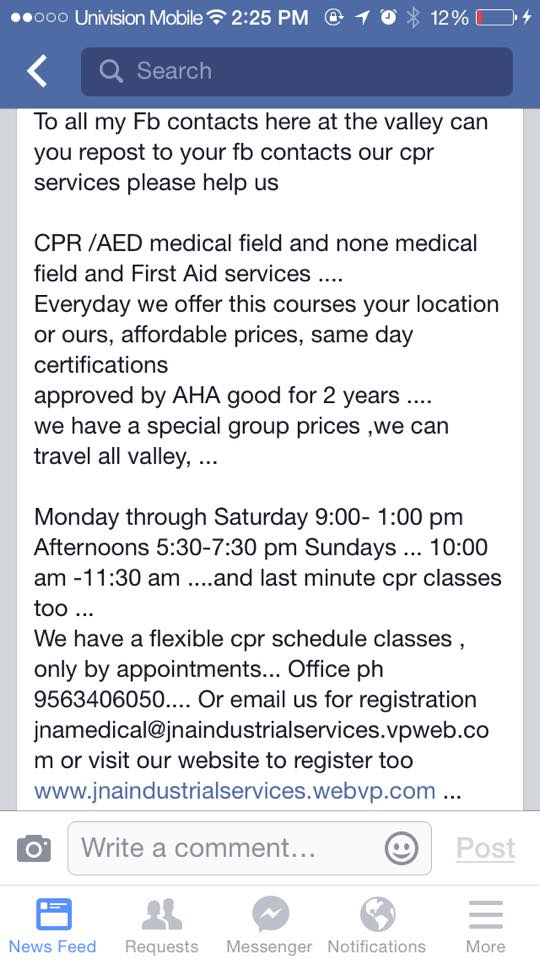 J A Medical Cpr Service 801 E Fern Avenue Mcallen Tx 78504 Yp