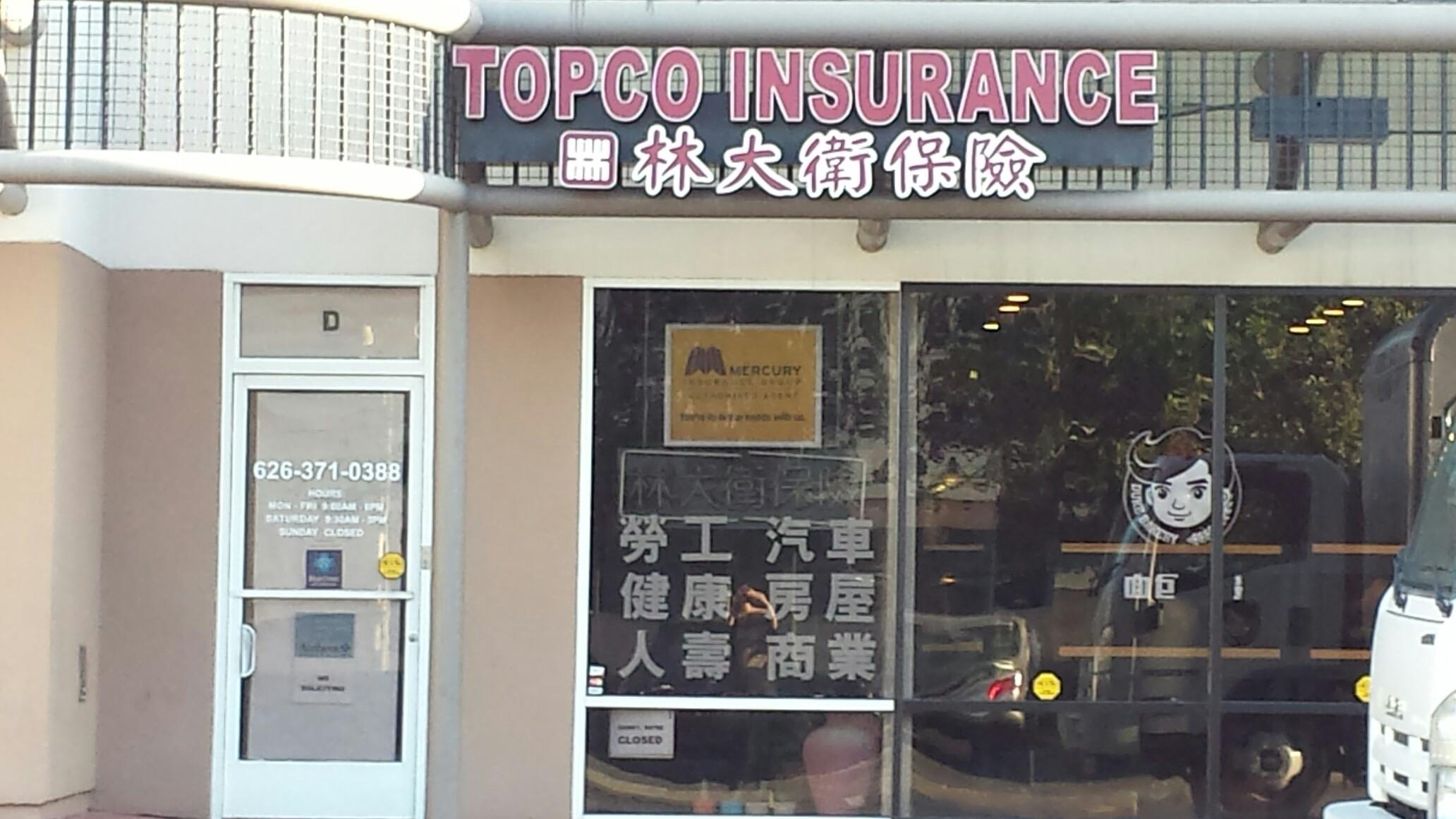 Topco Insurance Inc 713 W Duarte Rd Ste D Arcadia Ca