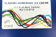 Give someone special a delicious gift card for #flavorsicecream