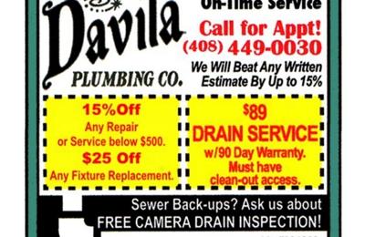 Davila Plumbing Company Inc. - San Jose, CA. Company Promo