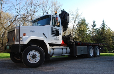 Blackfork Towing - Richmond, VT. Crane/rollback truck for recoveries and moving large things!