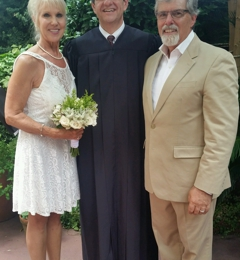 Judge Kevin J Centanni - Kenner, LA. Married in the Courtyard