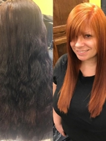 Before and after a color correction