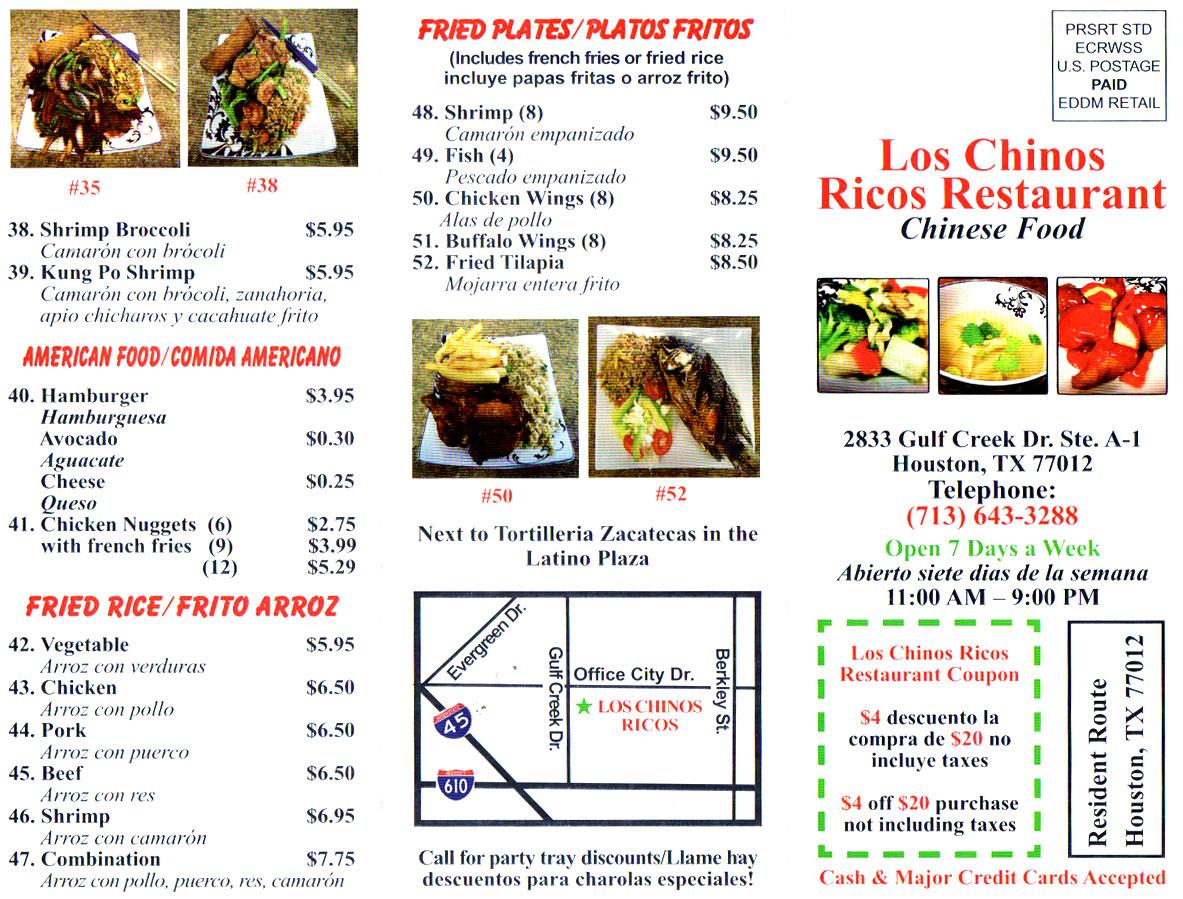 Los Chinos Ricos Restaurant 2833 Gulf Creek Dr, Houston, TX 77012 ...