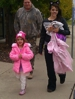 The President/CEO Dave Pederson with his Daughter Caitlin and Granddaughter Emma Trick or Treating.