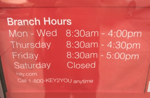 Correct hours of operation.