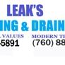Larry Leaks Plumbing & Drains - Vista, CA