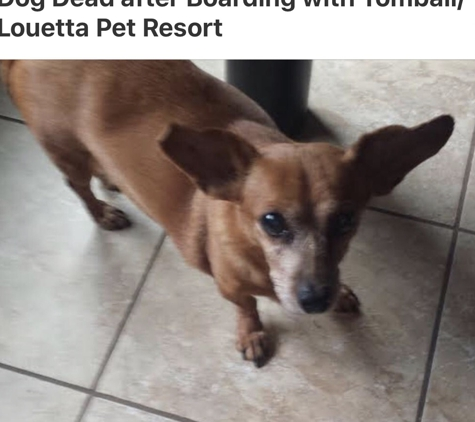Tomball Pet Resort and Spa - Spring, TX. Died after ingesting chemical while being boarded .