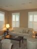 Living Room Motorized Silhouette Shades by Benjamin Draperies – San Dimas, CA