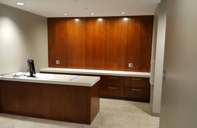 ... Robison Wildwood Cabinet Shop   Modesto, CA. Custom Cherrywood Cabinetry  In Commercial Office.