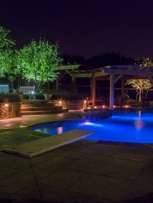 Pool Lighting, wall lights & tree lighting by Dallas Landscape Lighting