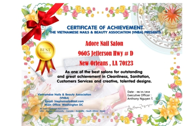 Adore Nail Salon - New Orleans, LA