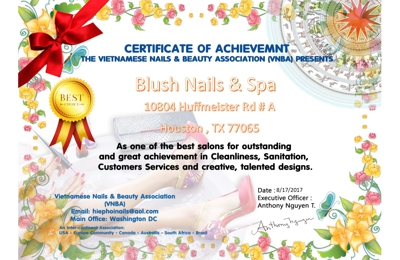 Blush Nails Spa 10804 Huffmeister Rd Houston Tx 77065 Ypcom