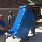 Cannonball Movers and Hot Tubs - Denver, CO. A couch wrapped in blankets and Shrinkwrap