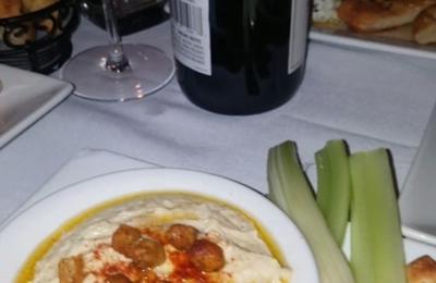 Divan - Atlanta, GA. Hummus and wine