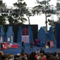 Forest Theater - Carmel, CA. Stsge being set up for the production of Peter Pan.