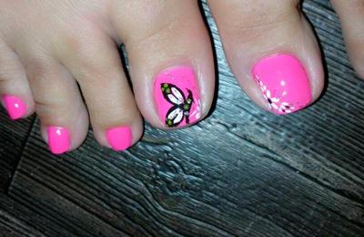 Nails Infiniti - Richmond, TX. Butterfly-Nails Art by Linh
