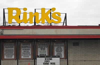 Rink's Outlet Store & Flea Mkt - Cincinnati, OH. only good thing about this place is the old rinks sign