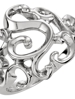 14KT WHITE GOLD SCROLL DESIGN FASHION RING