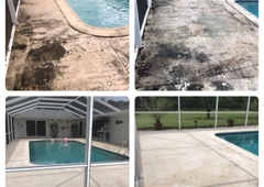 AR&D Inc. Pressure Cleaning - Southwest Ranches, FL. Pool area pressure cleaning and sealing.