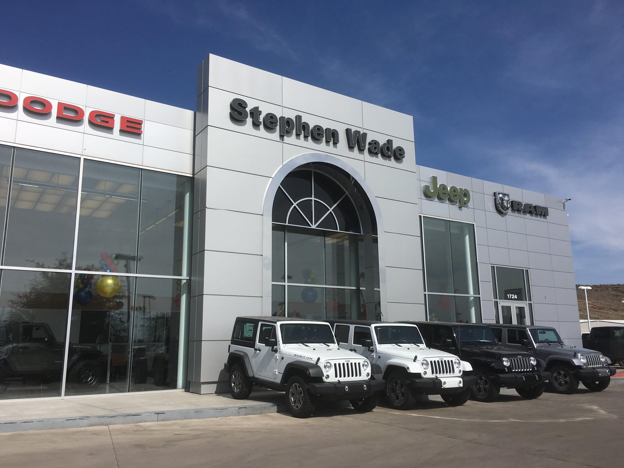 Stephen Wade Dodge >> Stephen Wade Chrysler Jeep Dodge Ram 1724 S Hilton Dr Saint