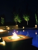 Fire features and wall lights by Dallas Landscape Lighting