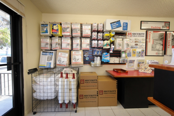 Security Public Storage - Oceanside, CA. Moving and packing supplies