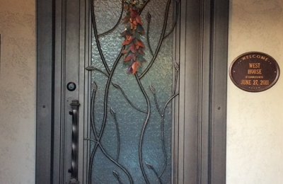 First Impression Security Doors - Tucson AZ. Front entry door with specialty glass. & First Impression Security Doors 6811 N. Thornydale Rd. Suite #101 ...