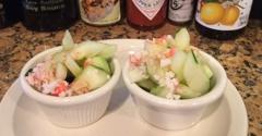 Ru Sans Edgewood - Atlanta, GA. When you sit at the bar, you get a complimentary cucumber crab salad����