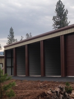 Individual, secure storage units for boats, snowmobiles, and RVs