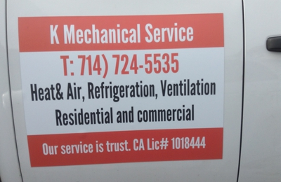 K Mechanical Service Co  6450 Lincoln Ave, Buena Park, CA