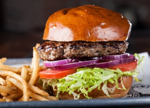 Burger at SmithHouse in Santa Monica, Calif.