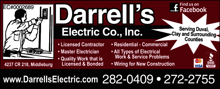 Darrell S Electric Co 4237 County Road 218 Middleburg Fl