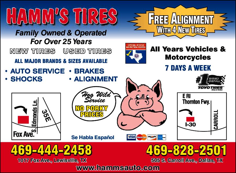 Hamm\'s Tire Inc 505 S Carroll Ave, Dallas, TX 75223 - YP.com
