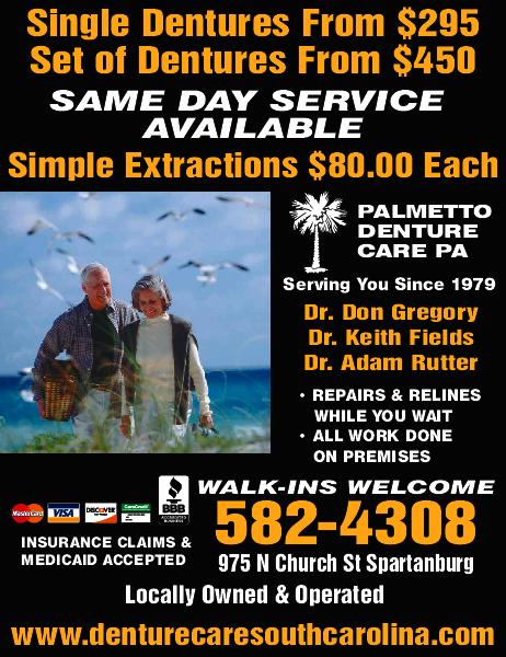 Palmetto Denture Care PA 975 N Church St, Spartanburg, SC 29303 - YP com